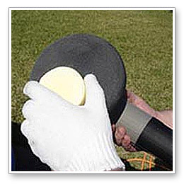 Select a foam finishing pad to apply wax.