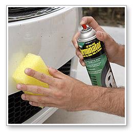 Remove bugs and tar with our Bug & Tar Remover Kit, including Stoner Tarminator, the Safe Scrub Bug Sponge, Wolfgang Deep Gloss Spritz Sealant, and the Microfiber Towel.