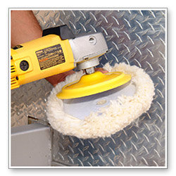 Use a 4 Ply Twisted Compounding Pad with your rotary to work in the compound.