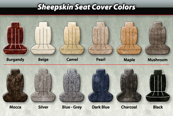 3 4 genuine super sheepskin seat covers pair cozy comfort for you protection for the seats. Black Bedroom Furniture Sets. Home Design Ideas