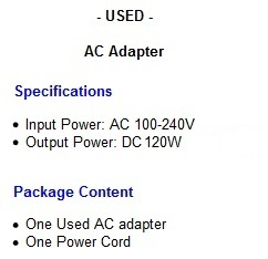 HP computer power supply ac adapter cord cable charger 740243-001 ...