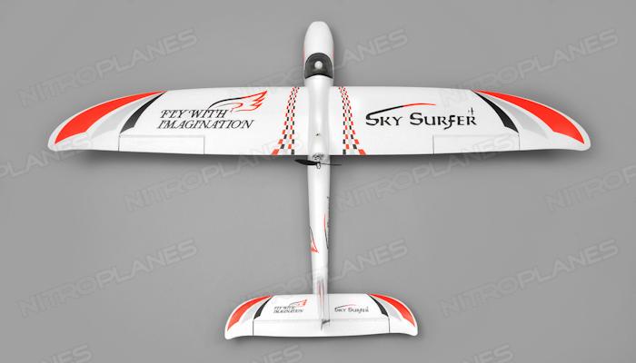 AeroSky RC 4-CH Skysurfer 1400mm RC Glider RTF (2 4G Red) RC