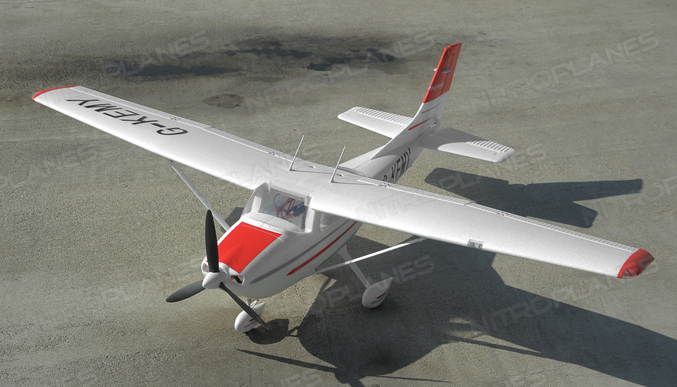 Aerosky Rc Sky Trainer Rc Plane W Flaps 4 Channel 2 4ghz Ready To Fly 1400mm Wingspan Rc Remote