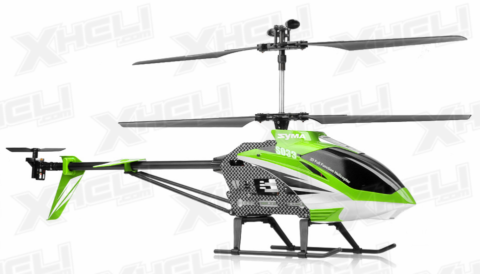 Syma S33 3 Channel RC Helicopter 2 4ghz (Green) RC Remote