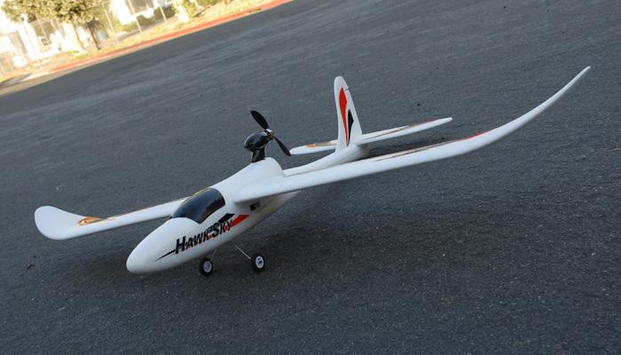 Dynam 4 Ch Hawk Sky 1370mm Electric Brushless Rc Airplane