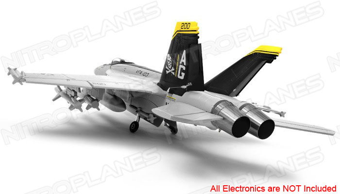 New Exceed RC 9CH 90MM F-18 Jolly Roger Extreme Scale Jet Kit + 3D