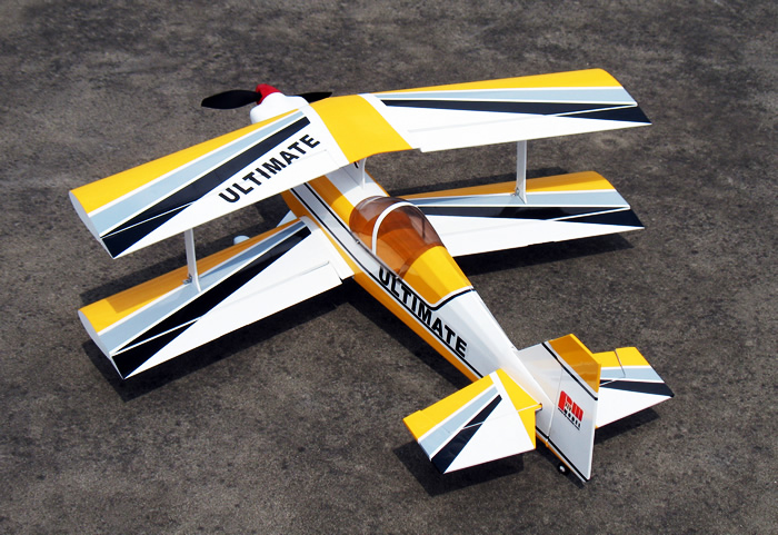 Yellow Ultra Flying Ultimate Bipe Arf Brushless Electric