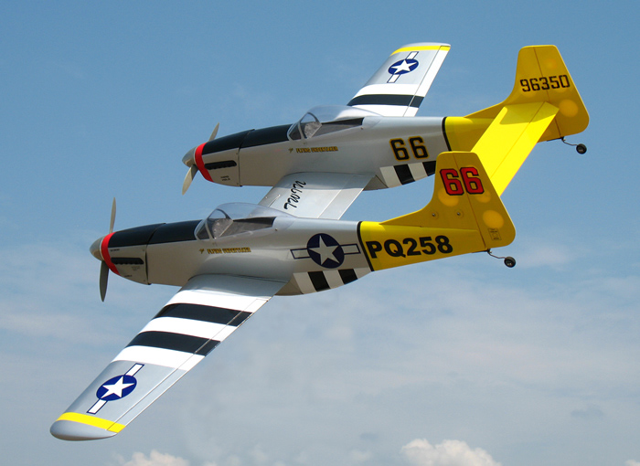 P 82 Twin Mustang 40 70 5 Quot Nitro Gas Led Rc Warbird