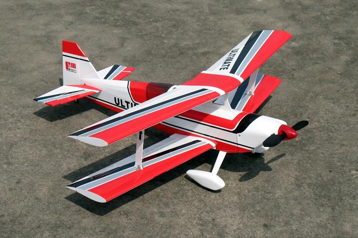 Red Brushless Electric Ultimate Bipe Arf Rc Biplane