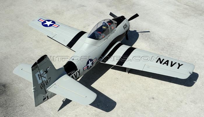 Airfield Rc T28 1400mm Radio Control Warbird Plane Super