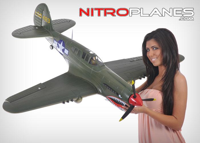 Airfield Rc 5 Ch P 40 Rc Warbird Plane Kit Airframe W