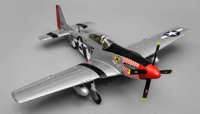 airfield rc plane 6 channel p51 mustang warbird 1150mm wingspan