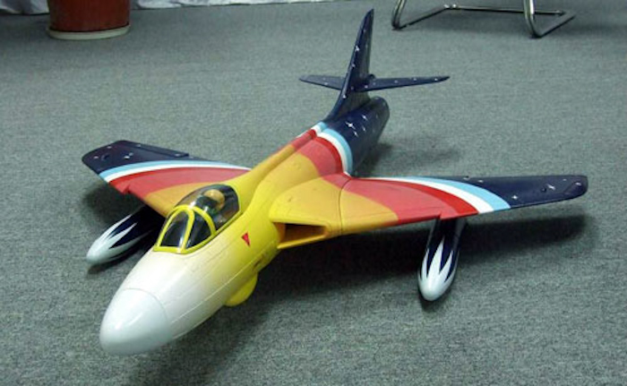 68mm Electric Ducted Fan Hawker Hunter Epo Aircraft Body