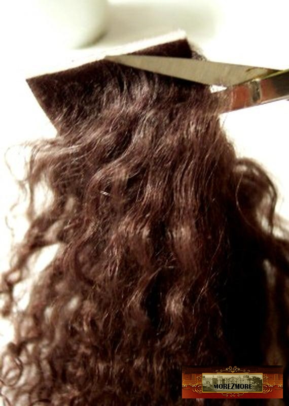 M00487 MOREZMORE Hair Tibetan Lamb Seconds SILVER GREY Doll Baby Hair Wig