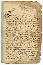 1692 Colonial New York Document Land Transfer