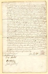 "Old English Document "" To the Xpian People "" dated 1691"