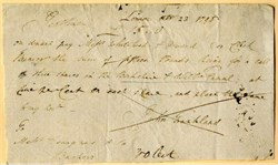 Demand Note for a Call on Three Shares in the Berkshire & Wilts Canal - England 1798