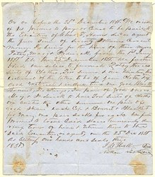 Slave Lease Agreement  RARE - 1851