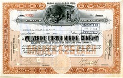 Wolverine Copper Mining Company - Keweenaw Peninsula, Houghton County, Michigan 1922