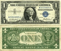 $1 Silver Certificate - United States of America - 1957