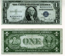 $1 Silver Certificate - United States of America - 1935