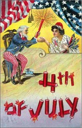 4th of July Post Card