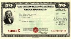 $50 Series E United States Savings Bond