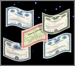 5 Certificate Scripophily.com Starter Set
