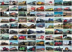 72 Card Set of Vintage Steam and Diesel Railroad Postcards