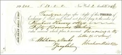 Abraham Bell & Son Shipping Company Sight Exchange Check issued in 1846