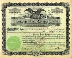 Abington Dairy Company - Scranton, Pennsylvania 1899