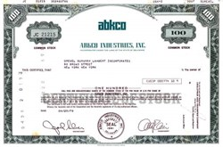 ABKCO Record Company Stock Certificate  - Allen Klein as President - Beatles Business Manager 1978