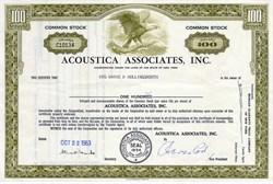 Acoustica Associates, Inc. - New York 1963