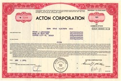 Acton Corporation (Cable TV)  - Massachusetts, 1981
