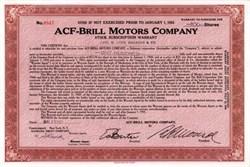 ACF-Brill Motors Company ( Famous Bus Maker )