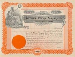 Accomack Storage Company Stock Certificate