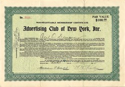 Advertising Club of New York, Inc. - New York 1924