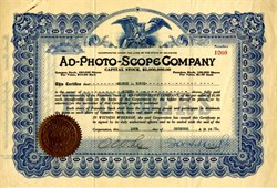 Ad-Photo-Scope Company (image on the verso of a Ad-Photo-Scope machine) - 1921