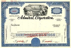 Admiral Corporation Specimen ( Famous Radio and TV Manfacturer)  - Delaware