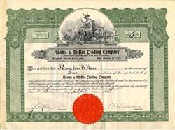 Adams & McKee Trading Company - Los Angeles, California 1924