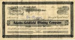 Adams - Goldfield Mining Company - Goldfield, Nevada 1907