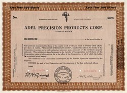 Adel Precision Products Corporation - Burbank, California