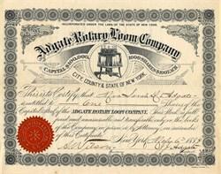 Adgate Rotary Loom Company (Weft-Thread Knitting Loom) - New York 1886