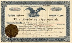 Aeriatron Company - Kentucky 1891