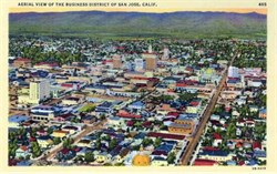 Aerial View of Business District - San Jose, California