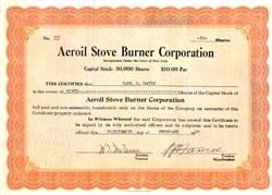 Aeroil Stove Burner Corporation - New York 1919