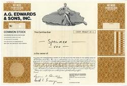 A.G. Edwards, Inc. Specimen - 1976