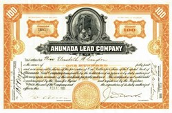 Ahumada Lead Company - Issued to Elisabeth Congdon who was murdered (The Ghost of Duluth's Glensheen Estate) - 1926