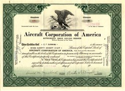 Aircraft Corporation of America ( Makers of the Airco - Scout Monoplane) - Delaware 1928