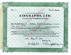 Airgraphs, Ltd. RARE (issued to Eastman Kodak Company) 1940 - WWII V-mail